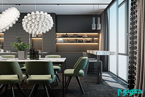طراحی داخلی فضای غذا خوری