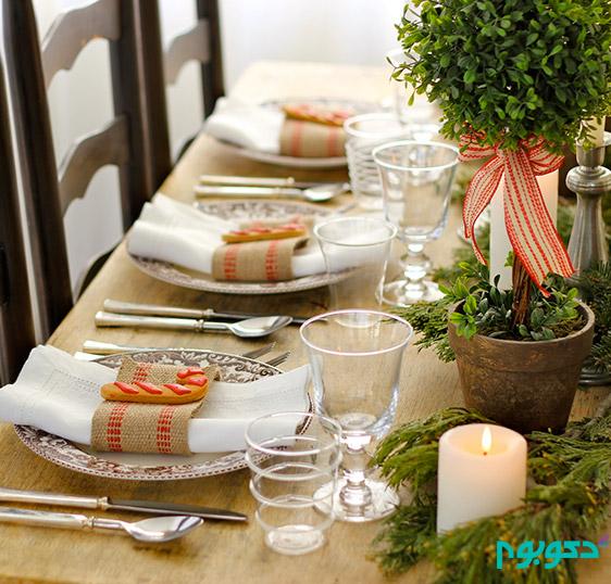 چیدمان میز غذا خوری در مهمانی ها