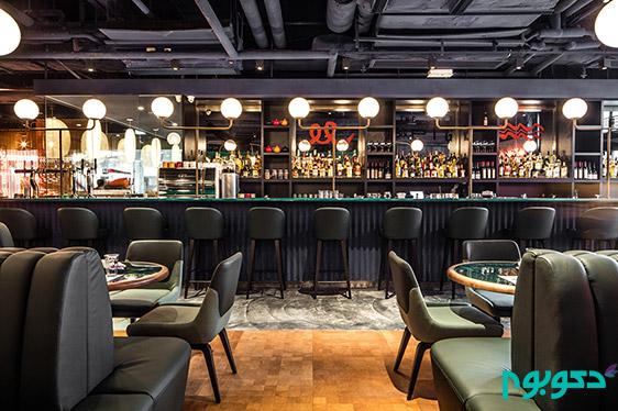 دکوراسیون داخلی رستورانی در هنگ کنگ
