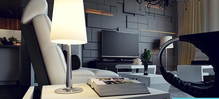 تاثیر طراحی دیوار نشیمن در دکوراسیون داخلی خانه