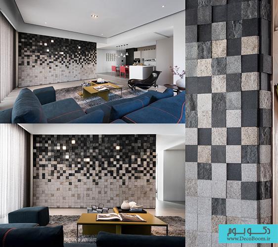 تاثیر طراحی دیوار نشیمن در دکوراسیون داخلی منزل