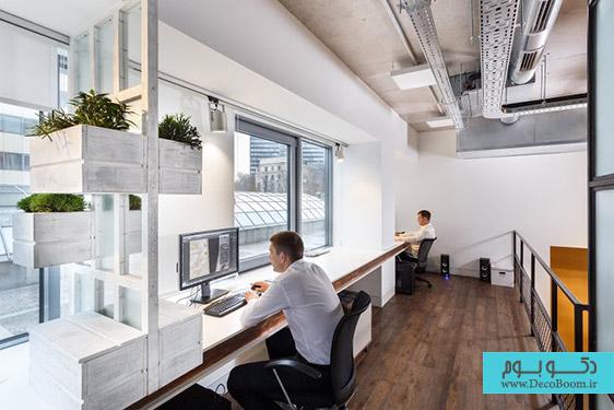 معماری داخلی دفتر کار در اوکراین