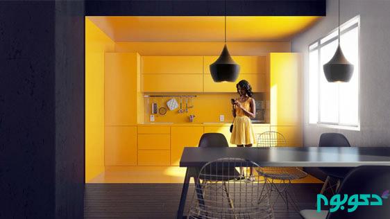 رنگ زرد در دکوراسیون آشپزخانه