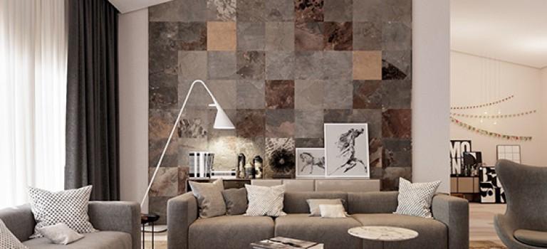 تاثیر طراحی دیوار نشیمن در دکوراسیون داخلی خانه (قسمت دوم)