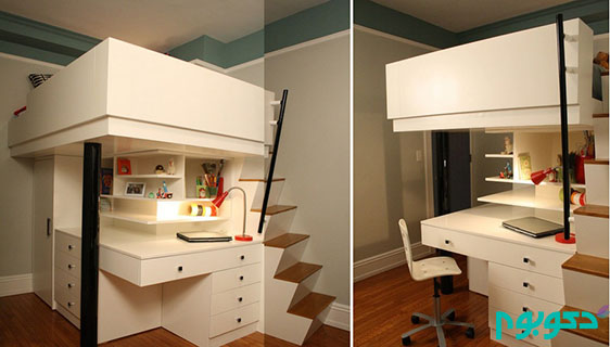 خلاقیت در دکوراسیون اتاق خواب های کوچک
