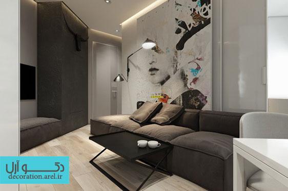 بخش سوم: دکوراسیون داخلی منزل با استفاده از رنگ های تیره و خنثی
