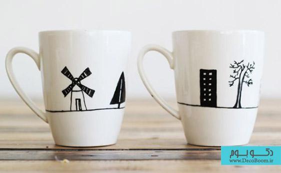 لیوان های نقاشی شده، پیشنهادی عالی برای هدیه دادن