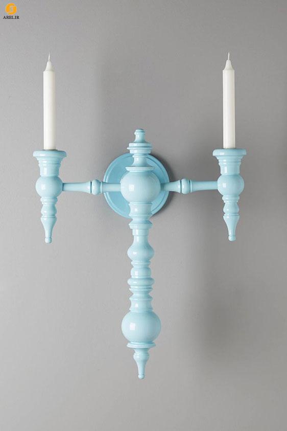 چند ایده برای طراحی جا شمعی دیواری