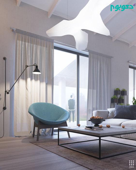 دکوراسیون منزل به سبک دل نشین مدرن و صنعتی