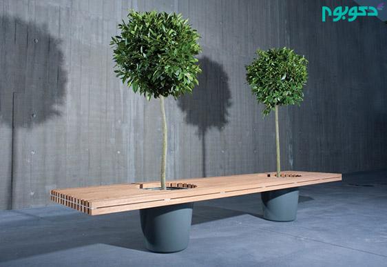 مبلمان جدید-مبلمان خلاقانه-گیاه روی میز