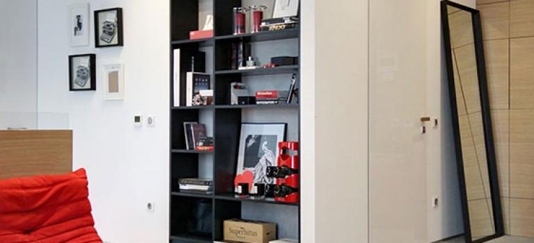 دکوراسیون آبی و قرمز آپارتمان با متراژ ۷۵ متر مربع