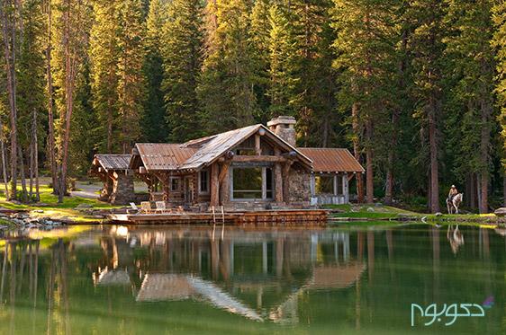 خانه با دکوراسیون چوبی