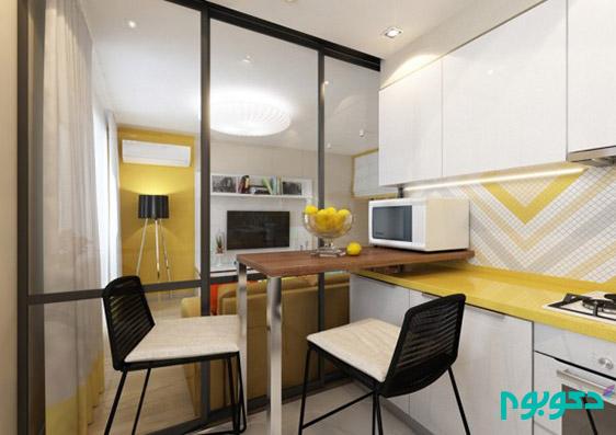 دکوراسیون داخلی آپارتمان با مساحت 27 متر مربع ( قسمت دوم)