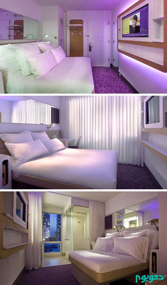 دکوراسیون متفاوت و دوست داشتنی اتاق های کوچک هتل