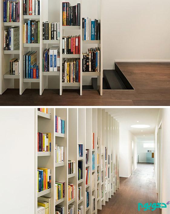 جذابیت قفسه های کتاب در دکوراسیون منزل