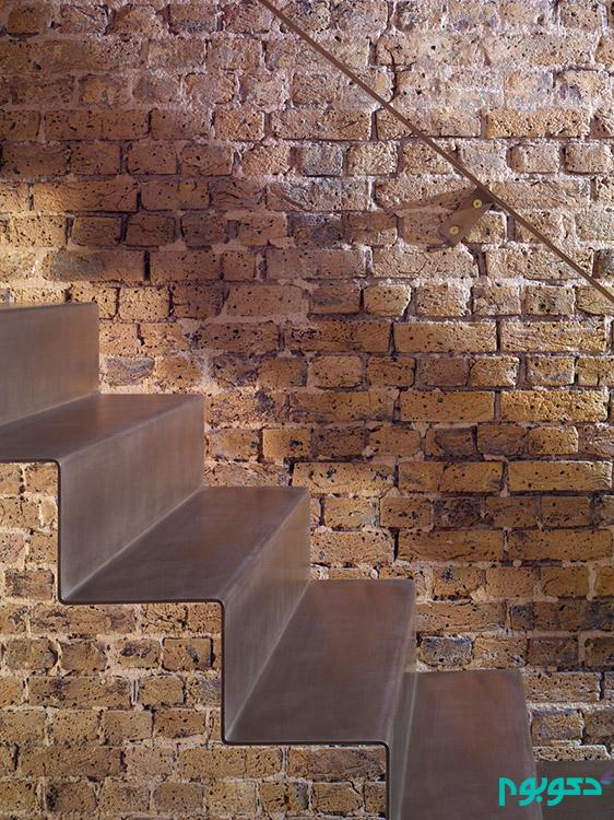 ساخت راه پله ی مینیمال با فولاد