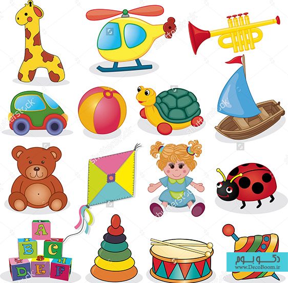 stock-vector-baby-s-toys-set-vector-illustration-132169640