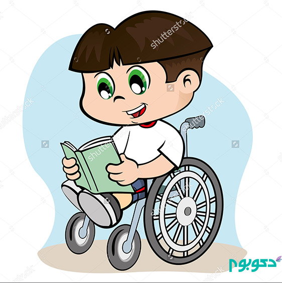 stock-vector-illustration-of-a-child-with-special-needs-in-a-wheelchair-reading-a-book-209159932