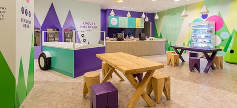 طراحی داخلی بستنی فروشی در شانگهای