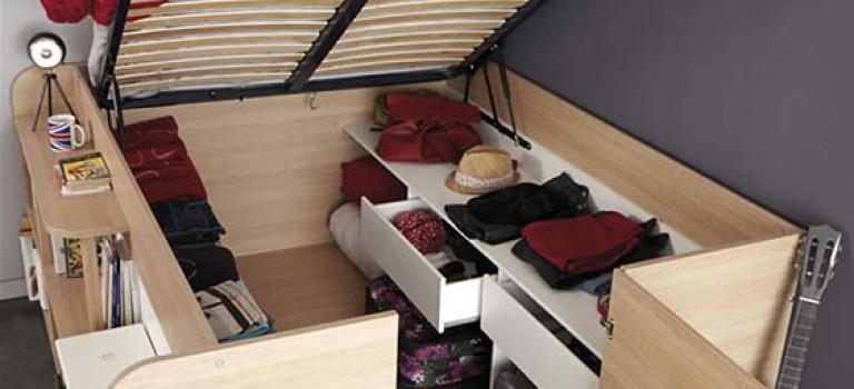 طراحی تخت خواب برای اتاق خواب های کوچک
