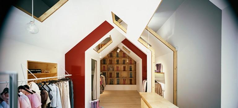 طراحی داخلی فروشگاه پوشاک FIU FIU