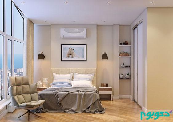 طراحی خانه دوبلکس با پنجره های بزرگ