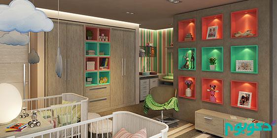 دکوراسیون داخلی خلاقانه دیوار اتاق خواب کودک
