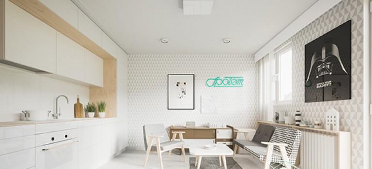 طراحی داخلی خانه کوچک ۵۰ متری