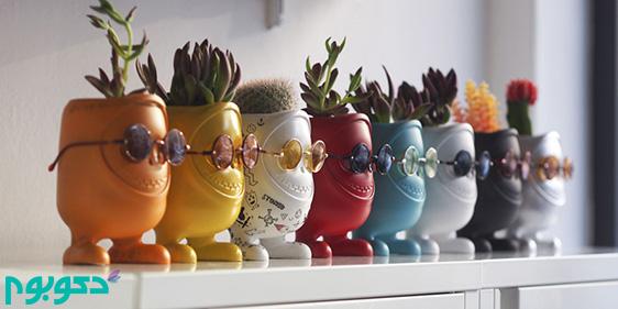 گلدان های هیولایی در دکوراسیون خانه