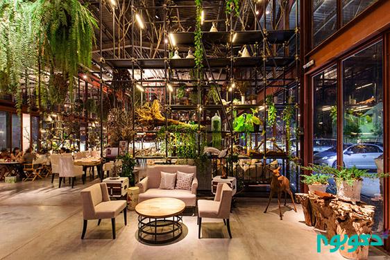 دکوراسیون داخلی رستورانی از جنس طبیعت
