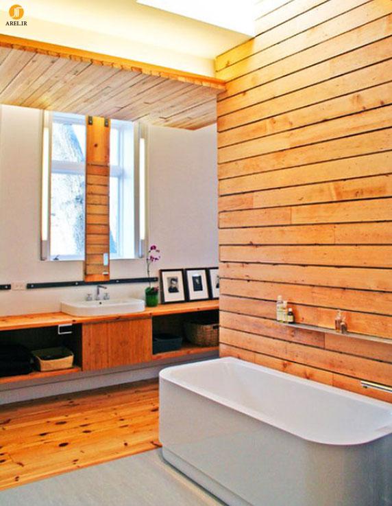 دکوراسیون داخلی سرویس بهداشتی چوبی