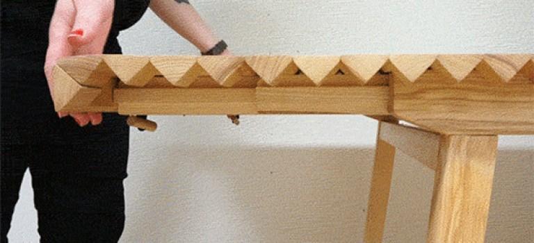 خلاقیت در طراحی، میز تاشونده
