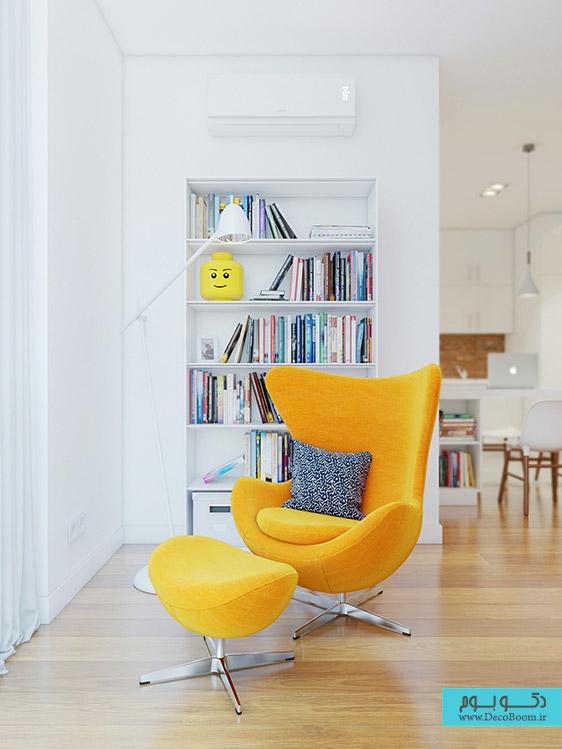 دکوراسیون داخلی به وسیله دیوار آجری، ترکیبی شگفت انگیز