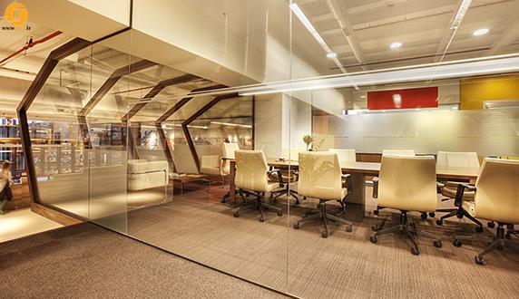دفتر کار با دکوراسیون مدرن