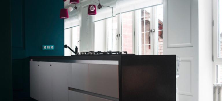 آشپزخانه تان را رنگ کنید، رنگ فیروزه ای