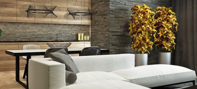 طراحی دکوراسیون ۵ خانه با رنگ طبیعی