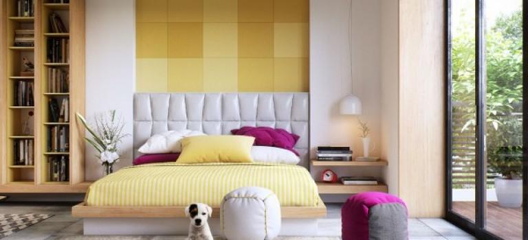 چیدمان اتاق خواب، مدرن و ساده