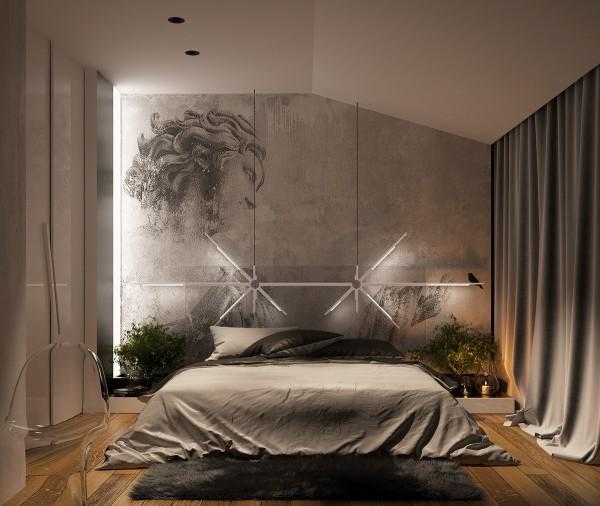 اتاق خواب با نور کم