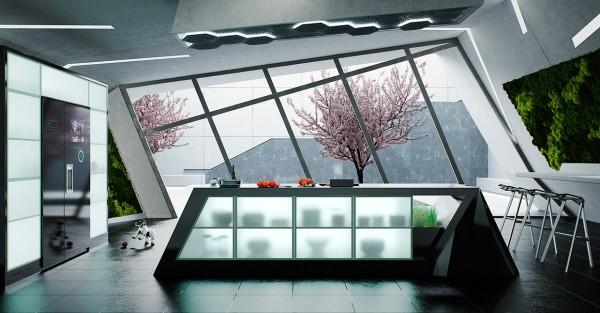 دکوراسیون داخلی آشپزخانه هوشمند
