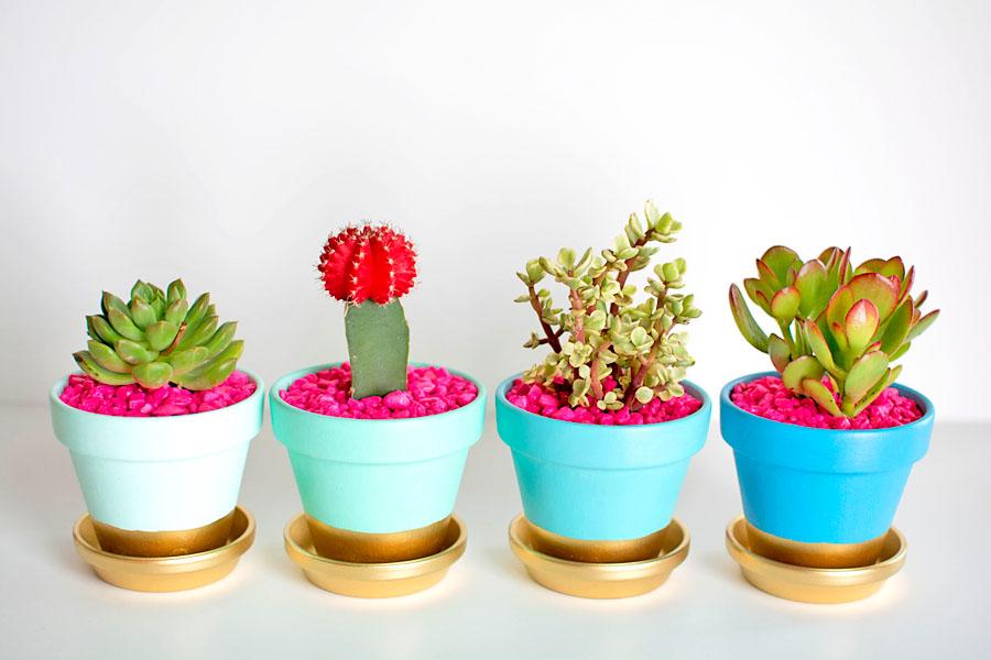 ایده هایی جالب برای تزیین گلدان در خانه