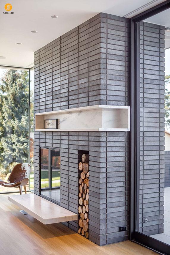 طراحی و دکوراسیون داخلی منزل : 7 ایده در طراحی شومینه های مدرن