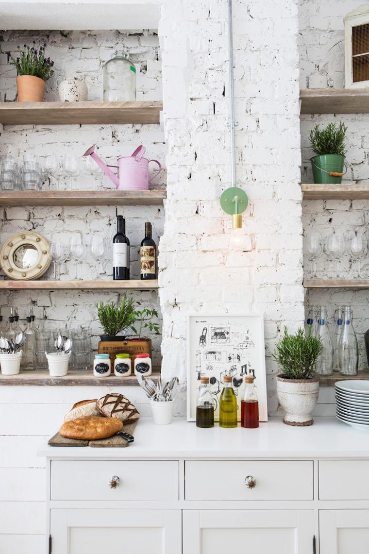 استفاده از رنگ سفید در دکوراسیون داخلی آشپزخانه