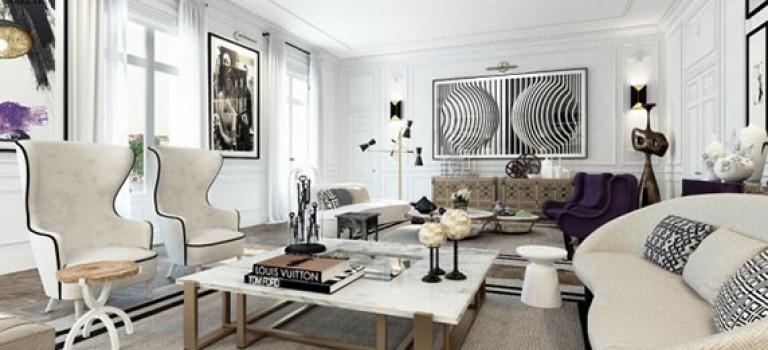 دکوراسیون داخلی ۳ آپارتمان با رنگ سفید و با سبک های متفاوت