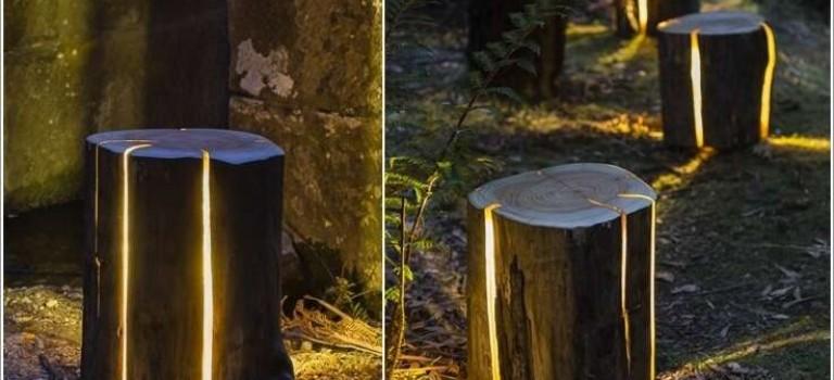 ۱۵ ایده برای دکوراسیون باغ با استفاده از تنه های درخت بلااستفاده