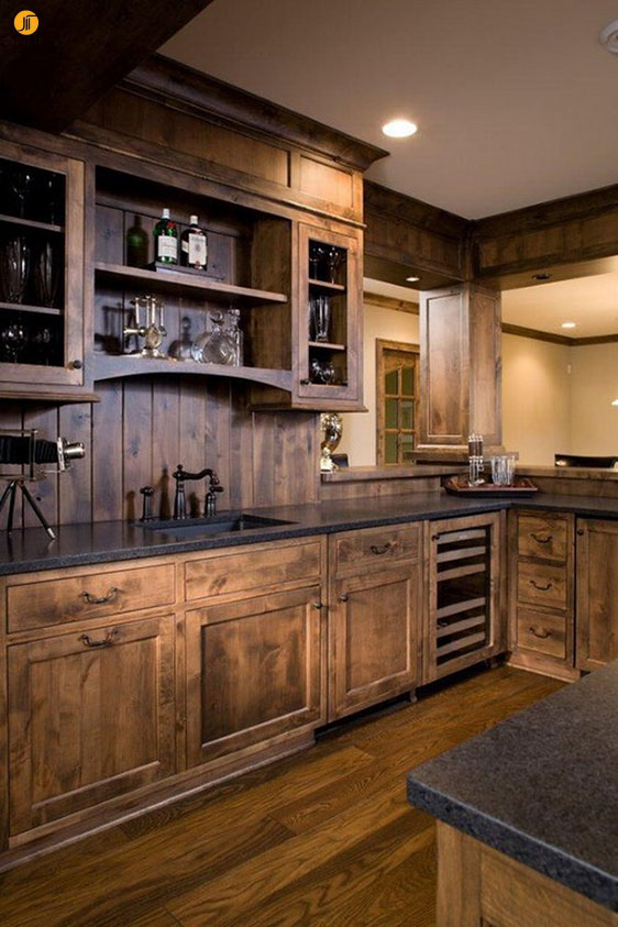 چند نمونه دکوراسیون داخلی آشپزخانه به سبک روستیک