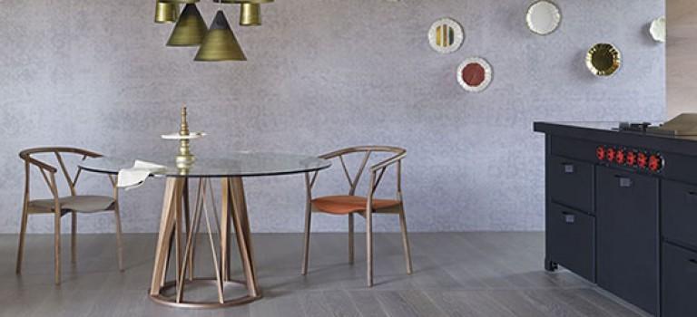 انواع میز های گرد شیشه ای برای دکوراسیون سالن غذاخوری