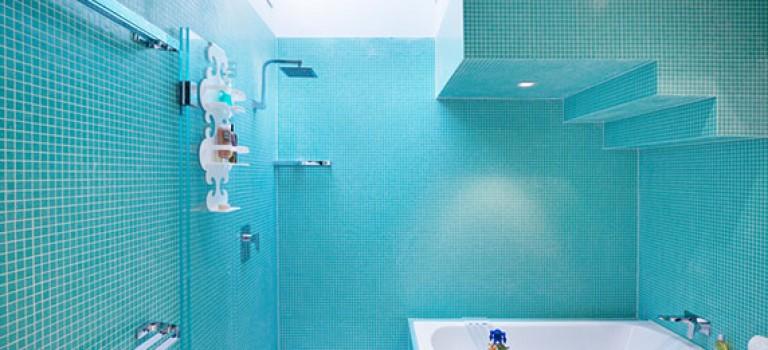 طراحی و دکوراسیون داخلی سرویس بهداشتی با رنگ آبی : ۷ ایده