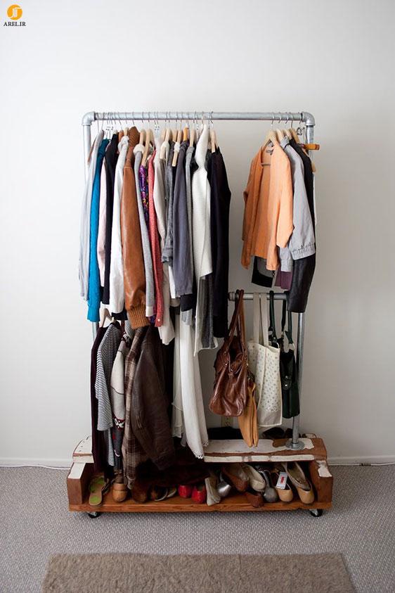 طراحی چوب لباسی و جا کفشی های ساده و جادار