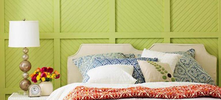 چند ایده استفاده از دیوار با رنگ سبز در دکوراسیون داخلی اتاق خواب