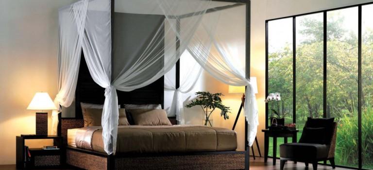 چند تخت خواب سایبانی به سبک روستیک برای دکوراسیون داخلی اتاق خواب